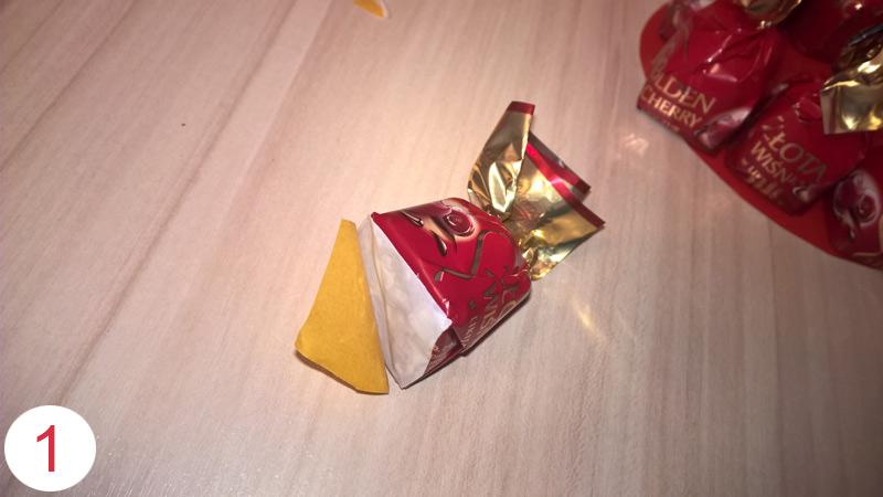 Валентинка из конфет своими руками шаг 1